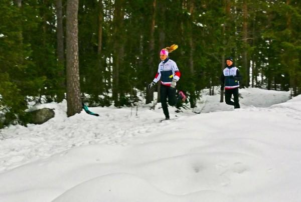 Porvoossa testataan jo reittiä letti hulmuten. Kuva: Trail Run Porvoo