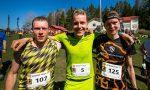 Bodom Trail, 5.5.2016, Pirttimäki, Espoo: Miesten 21km sarjan kolme parasta (v-o) Janne Mononen, Henri Ansio ja Antti Parjanne