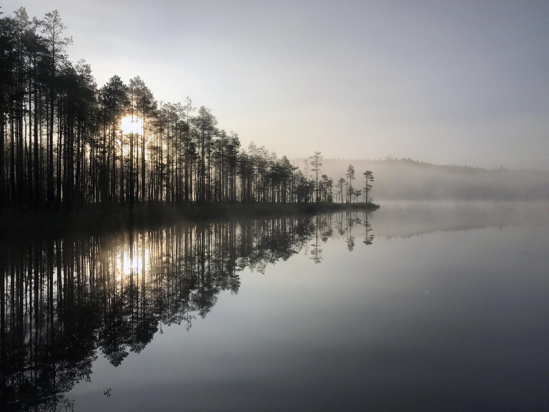 Lähdön hetki Hiidenportin kansallispuistossa. Kuva: Jaakko Kallio